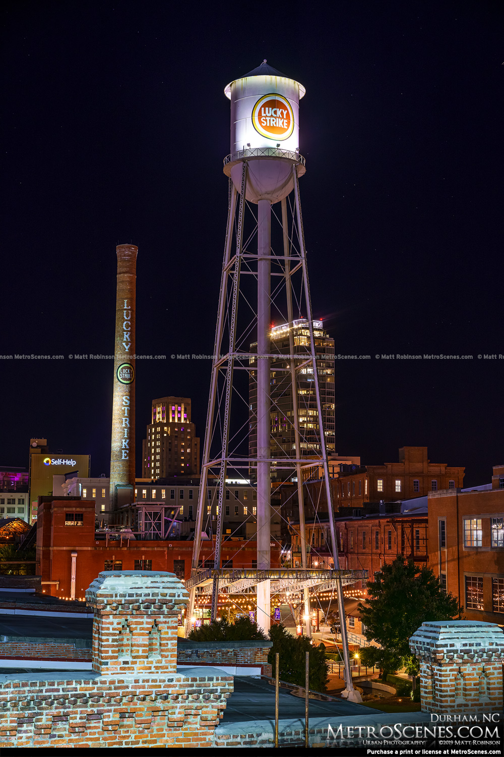 Downtown Durham at night 2019