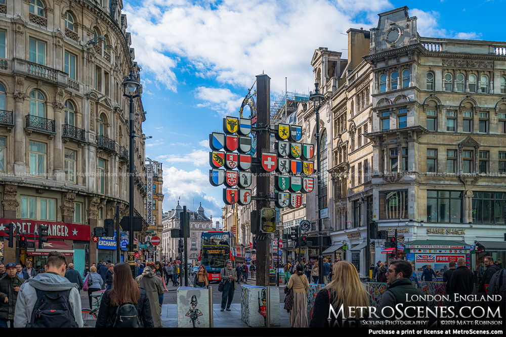 View of Coventry Street from Leicester Square London