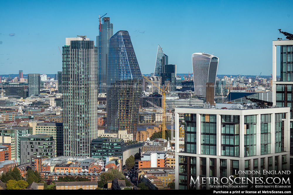 One Blackfriars with 22 Bishopsgate and 20 Fenchurch Street