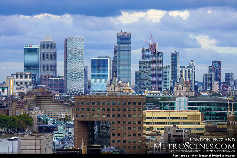 Canary Wharf from Tate Modern