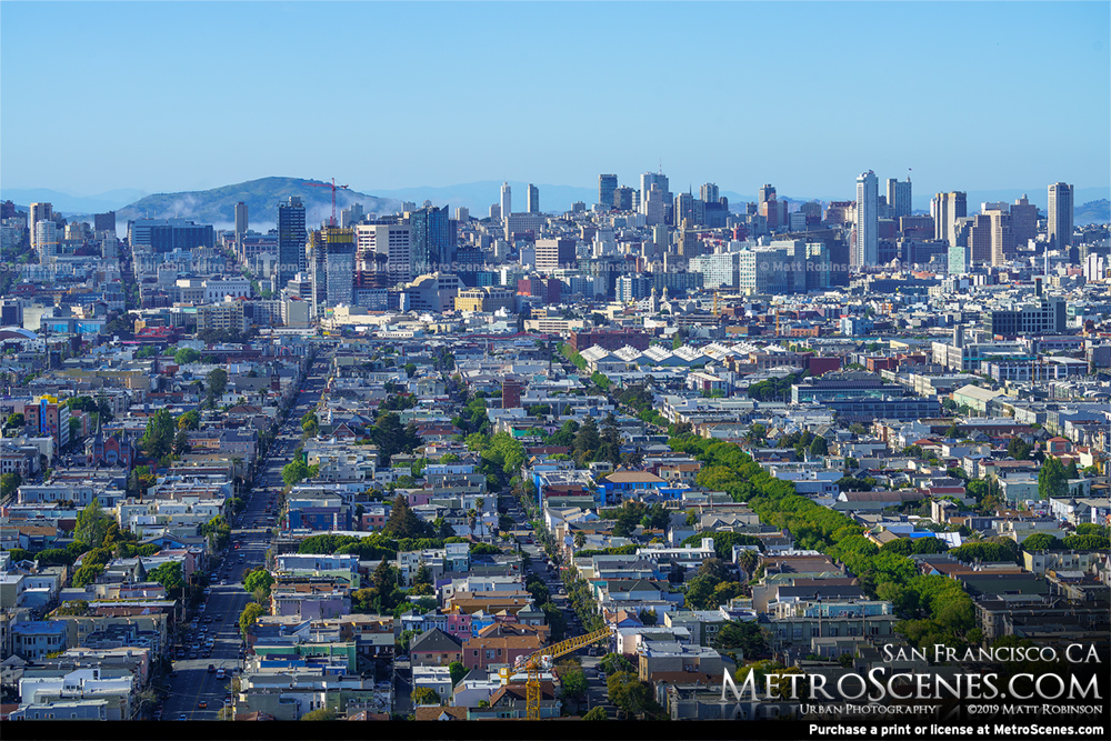 San Francisco neighborhoods from Bernal Heights