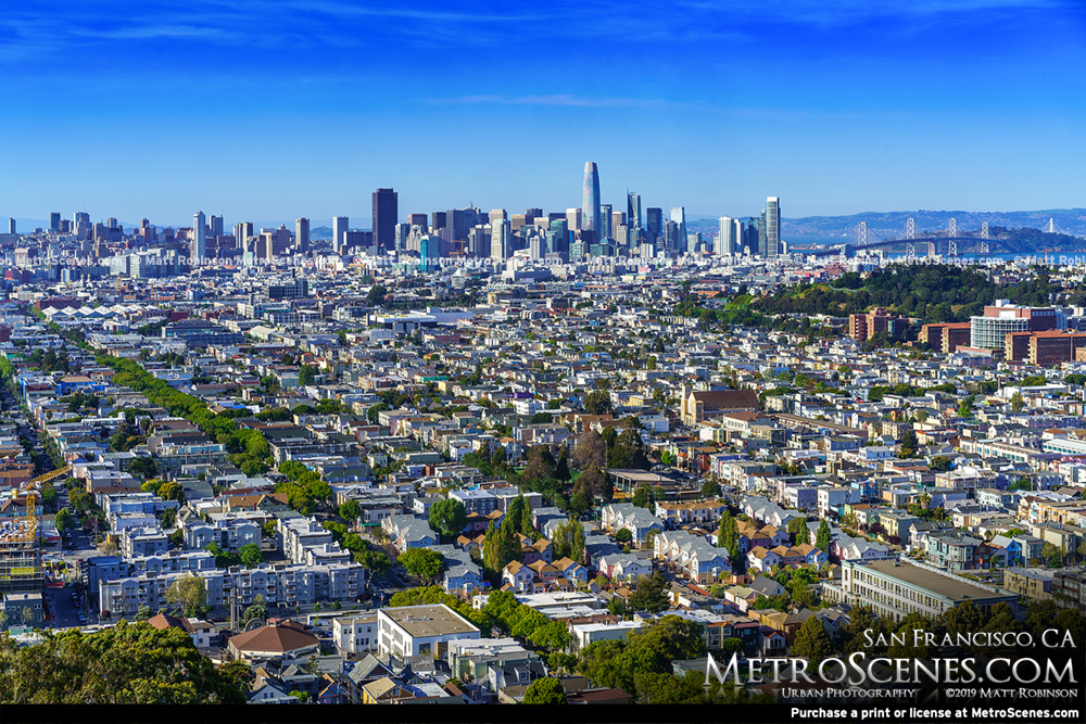 San Francisco Cityscape from Bernal Heights