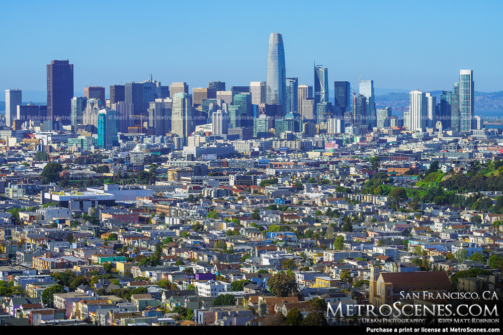 San Francisco Skyline from Bernal Heights 2019