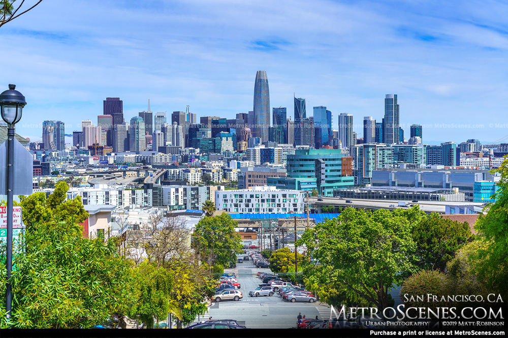 San Francisco Skyline from Petrero Hill 2019