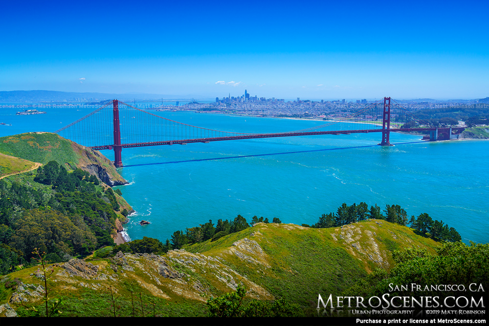 Golden Gate Bridge from the Marin Headlands