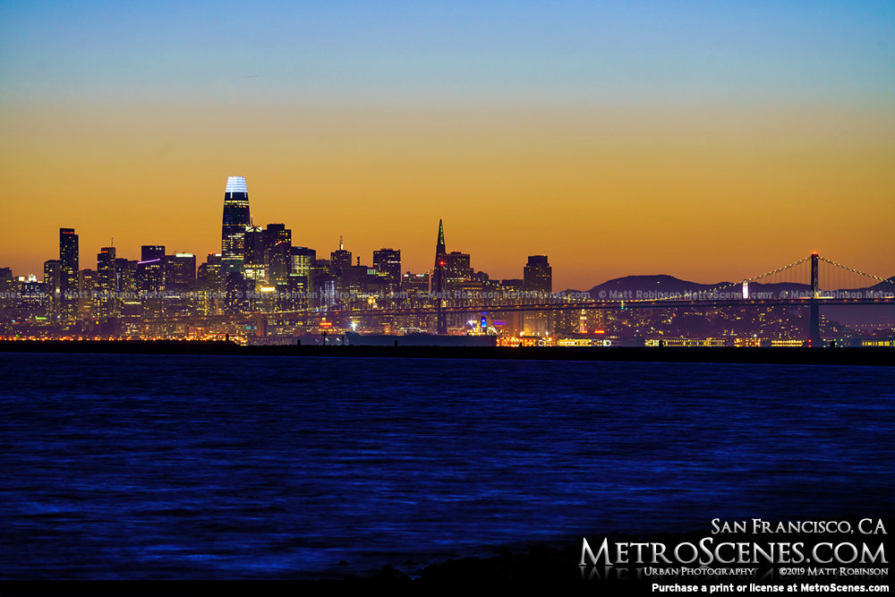 Downtown San Francisco from across the Bay