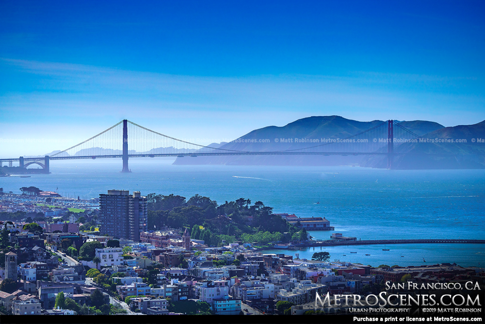 Golden Gate Bridge from Coit Tower