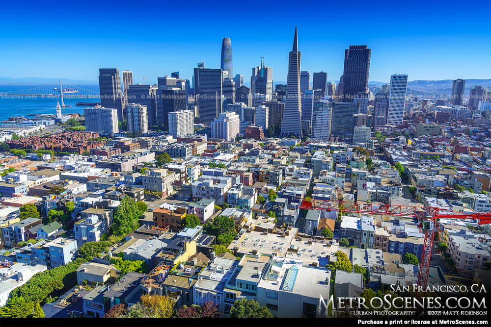 San Francisco Skyline from Coit Tower 2019