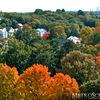 Fall colors over Boston