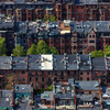 Back Bay Brownstones from above