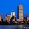 Prudential Center at night