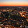 Sunset over western Boston