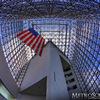 Fisheye of JFK Presidential Library Glass Pavilion