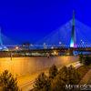 Zakim Bridge in Boston at blue hour